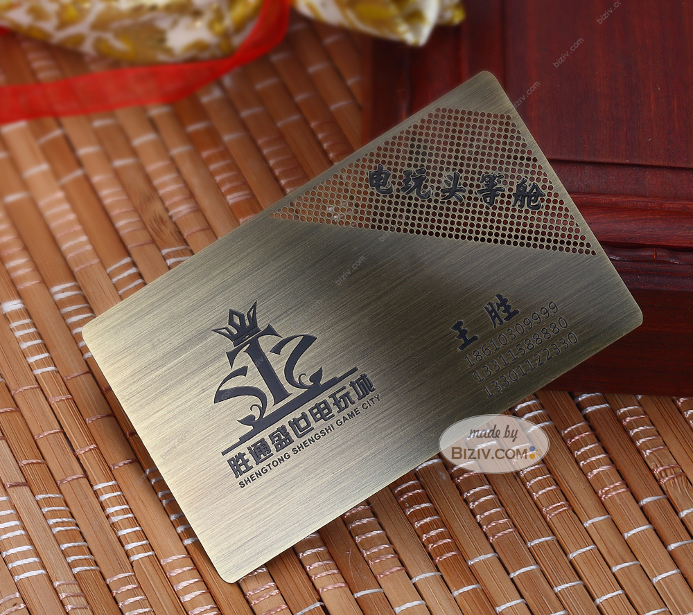Bronze Metal VIP Cards-Biziv promotional products