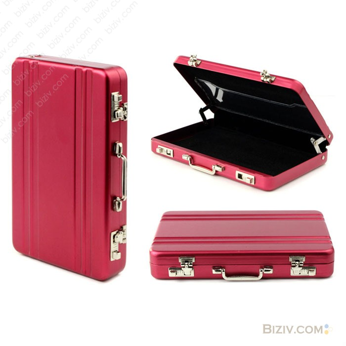 Suitcase metal business cards case-Biziv promotional products