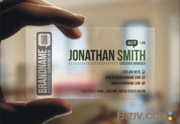 Plastic business cards biziv promotional products transparent plastic business cards reheart