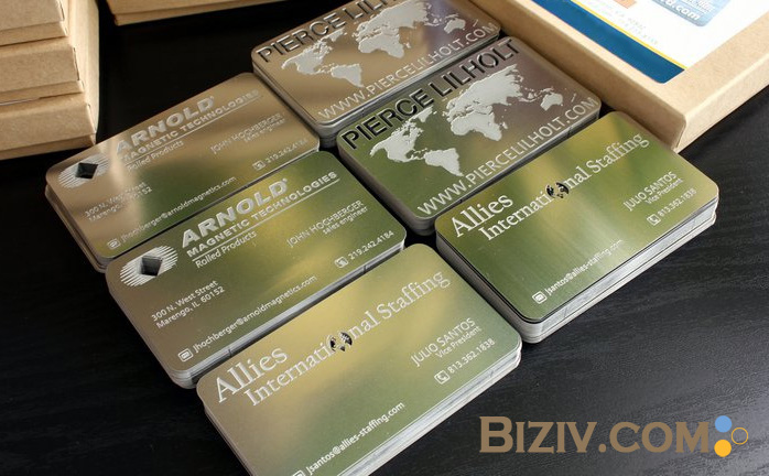 Metal business cards biziv promotional products reheart Choice Image