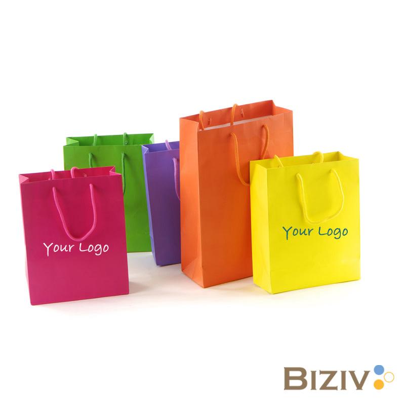 custom paper shopping bags -Biziv promotional products-Biziv ...