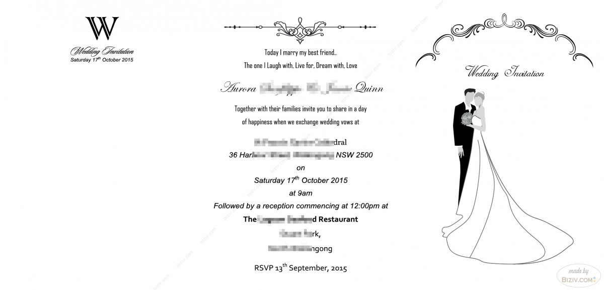 Free Samples Wedding Invitations: Free Wedding Invitation Templates-Biziv Promotional Products