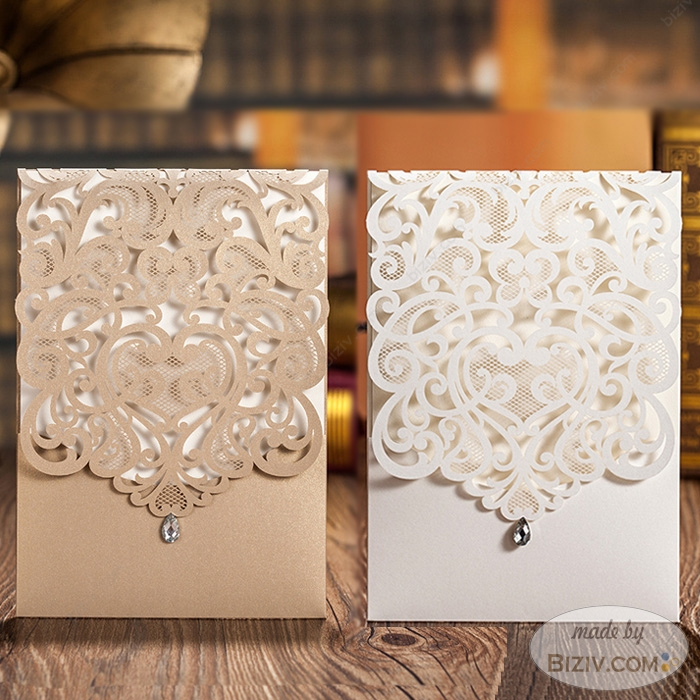gold wedding invitations-Biziv promotional products