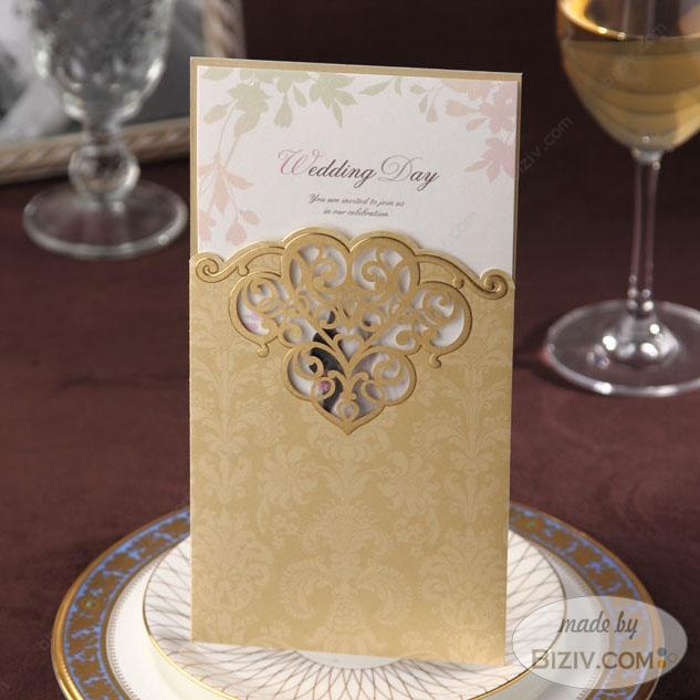 golden wedding invitation cards - Wedding Invitation Cards