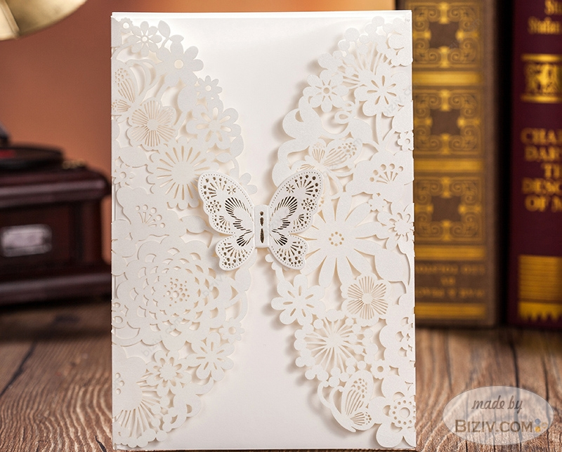 marriage invitationsBiziv promotional products – Butterfly Wedding Invitation Cards