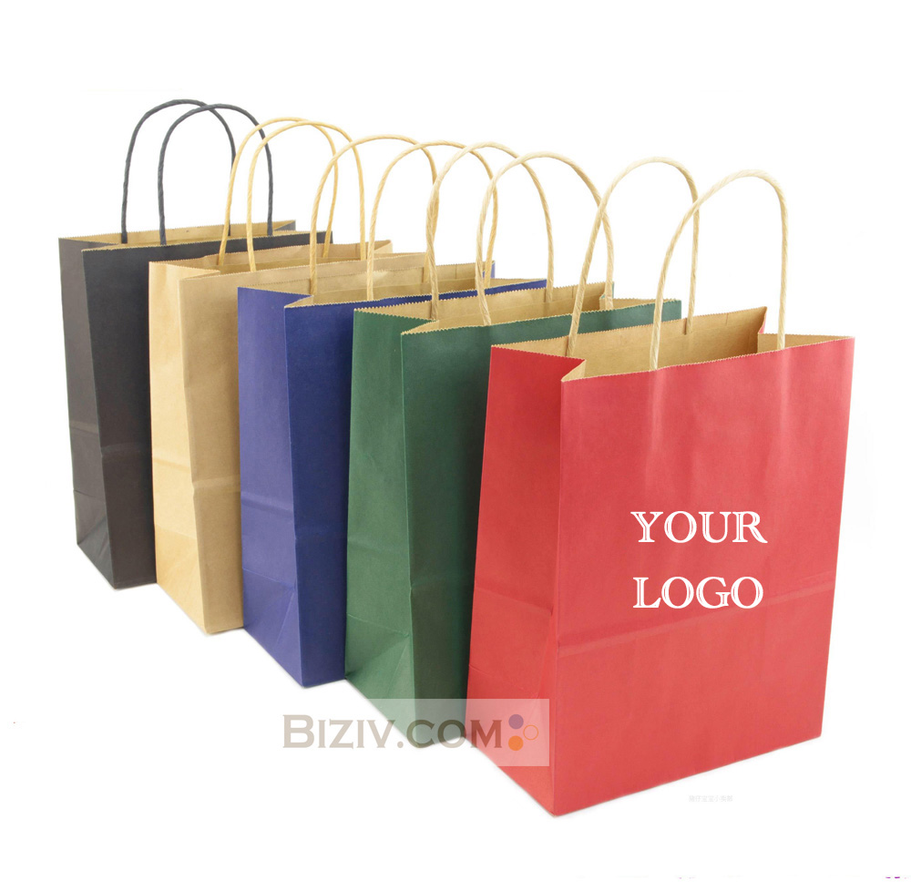 Custom paper services bags for business