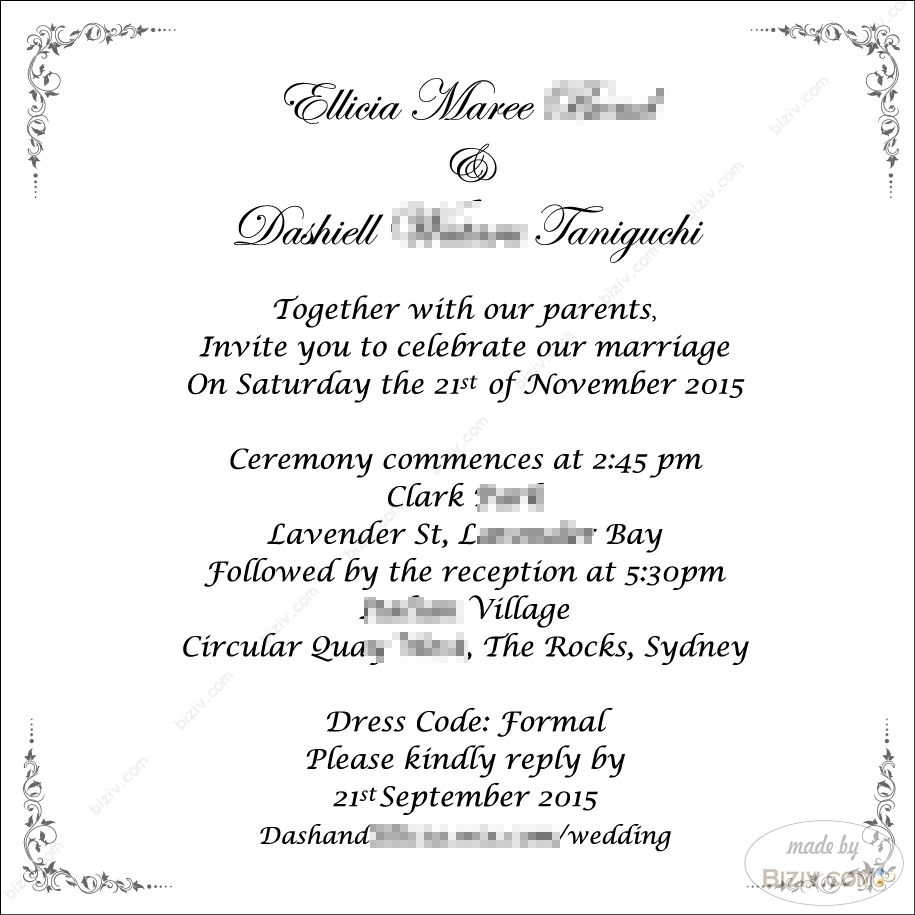 Wedding Invitation Templates Biziv Promotional Products