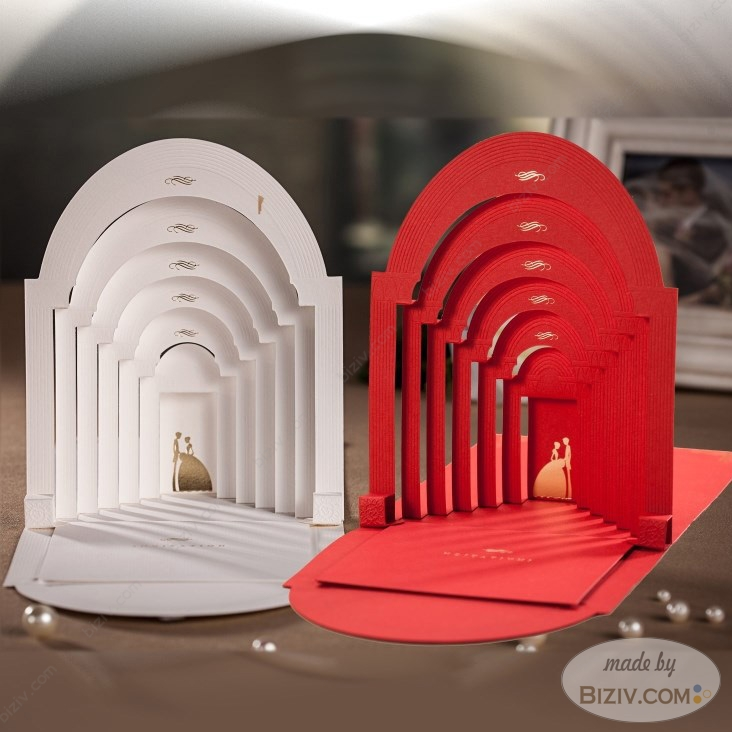 3D style creative wedding invitations-Biziv promotional ...